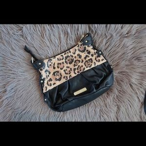 Charlotte Russe Black and Cheetah Purse